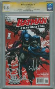 Batman Confidential #1 CGC 9.8 Signature Series SS Signed Whilce Portacio Batman sketch DC comic